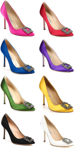 'Hangisi' Satin Crystal Toe Pump - Various Colors to Choose From - DESIGNER INSPIRED FASHIONS