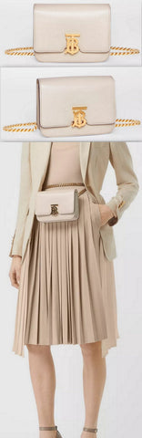Belted Leather TB Bag, Vanilla | DESIGNER INSPIRED FASHIONS