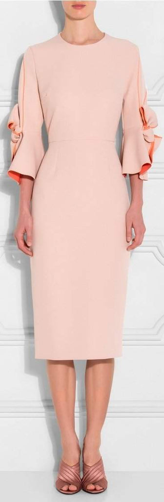Lavette Bow Sleeves Dress, Pink