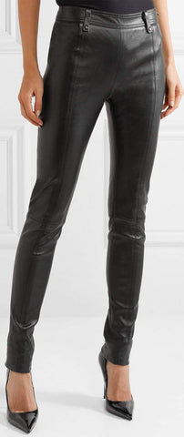 Faux-Leather Slim Fit Trousers | DESIGNER INSPIRED FASHIONS