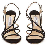 'Lynn' 100 Crystal-Embellished Suede Sandals | DESIGNER INSPIRED FASHIONS