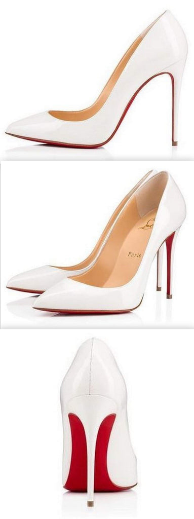 'Pigalle Follies' 100 mm Pumps, White | DESIGNER INSPIRED FASHIONS