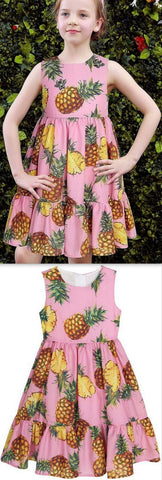 Pineapple Print Dress - DESIGNER INSPIRED FASHIONS