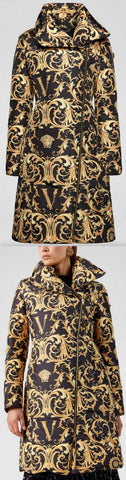 Barocco Print Puffer Coat | DESIGNER INSPIRED FASHIONS