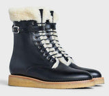 'Manon' Medium Boots in Calfskin, Black | DESIGNER INSPIRED FASHIONS