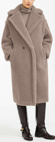 Teddy Icon Coat, Beige | DESIGNER INSPIRED FASHIONS