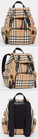 The Small Rucksack in Vintage Check and Icon Stripe | DESIGNER INSPIRED FASHIONS