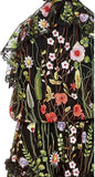 Black Glory Floral Embroidered Gown - DESIGNER INSPIRED FASHIONS