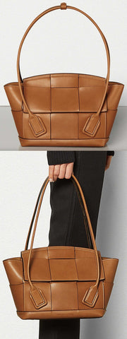 'Arco' 33 Bag in French Calf, Wood | DESIGNER INSPIRED FASHIONS