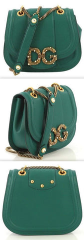 Amore Bag in Calfskin, Green | DESIGNER INSPIRED FASHIONS