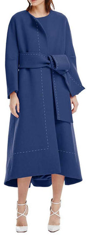 Large Stitch Wool Coat | DESIGNER INSPIRED FASHIONS