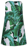 Banana Leaf Print Dress - DESIGNER INSPIRED FASHIONS
