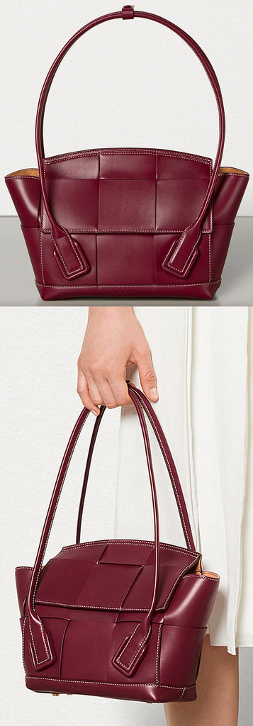 'Arco' 33 Bag in French Calf, Bordeaux | DESIGNER INSPIRED FASHIONS