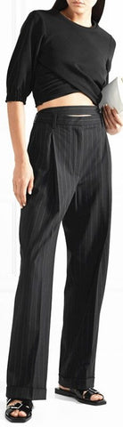 Pinstripe Loose-Fit Pants | DESIGNER INSPIRED FASHIONS