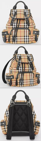 The Small Rucksack in Vintage Check and Leather | DESIGNER INSPIRED FASHIONS