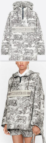 Toile de Jouy Technical hooded Anorak