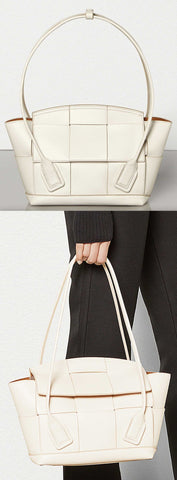 'Arco' 33 Bag in French Calf, White | DESIGNER INSPIRED FASHIONS