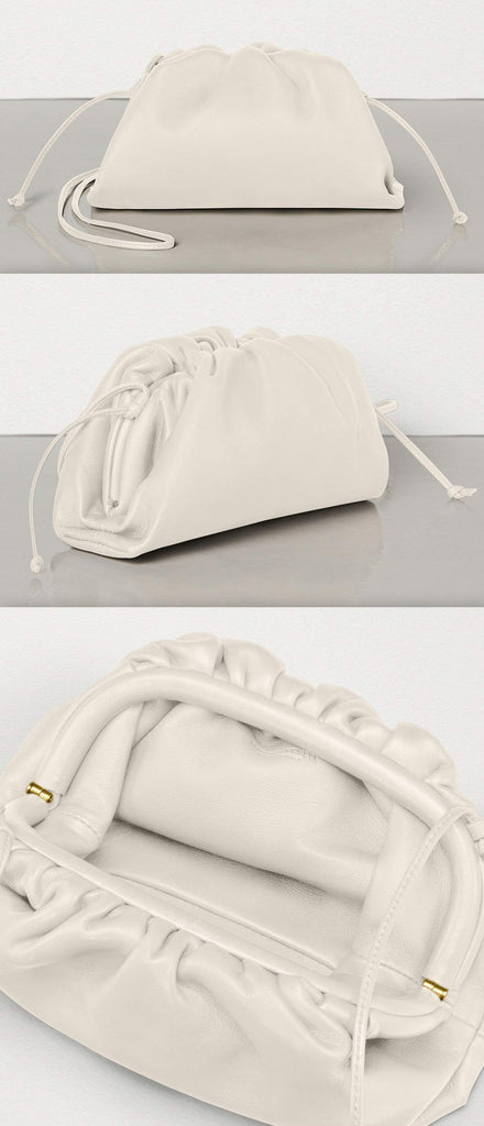 The Pouch 20 in Butter Calf Leather, Mist | DESIGNER INSPIRED FASHIONS