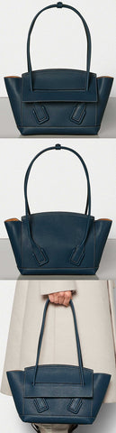 'Arco' 33 Bag in Palmellato, Deep Blue | DESIGNER INSPIRED FASHIONS