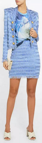 Fringed Jacket and Mini Skirt | DESIGNER INSPIRED FASHIONS