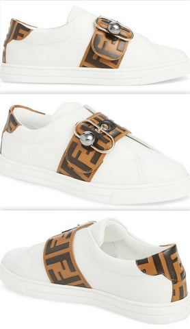 'Pearland' Logo Slip-On Sneakers