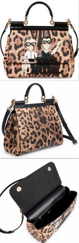 'Miss Siciliy' Medium Family Leopard-Print Satchel - DESIGNER INSPIRED FASHIONS