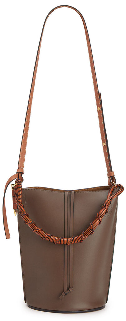 Gate Bucket Handle Bag, Dark Taupe | DESIGNER INSPIRED FASHIONS