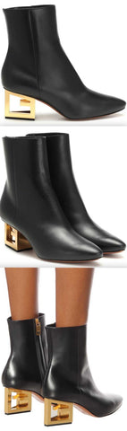 'G' Leather Ankle Boots | DESIGNER INSPIRED FASHIONS