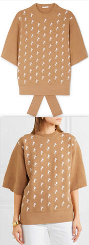 Embroidered Wool-Blend Sweater | DESIGNER INSPIRED FASHIONS