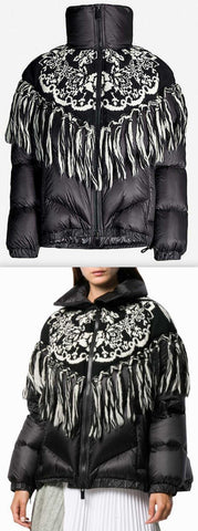 Knit-Overlay Nylon and Wool-Blend Padded Jacket | DESIGNER INSPIRED FASHIONS