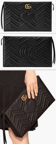 GG Marmont Matelassé Clutch, Black | DESIGNER INSPIRED FASHIONS