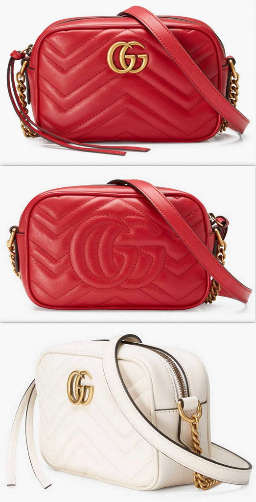3798d00e035 GG Marmont Matelassé Mini Bag - Red or White - DESIGNER INSPIRED FASHIONS