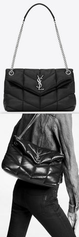 'LouLou' Puffer Small Bag in Quilted Lambskin | DESIGNER INSPIRED FASHIONS