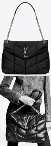 'LouLou' Puffer Medium Bag in Quilted Lambskin | DESIGNER INSPIRED FASHIONS