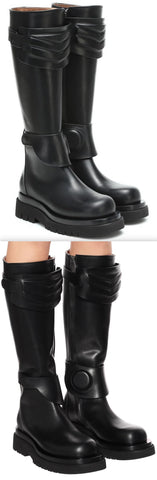 Knee-High Leather Boots | DESIGNER INSPIRED FASHIONS