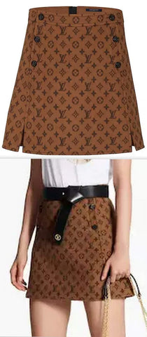 A-Line Mini Skirt with Button Detail | DESIGNER INSPIRED FASHIONS