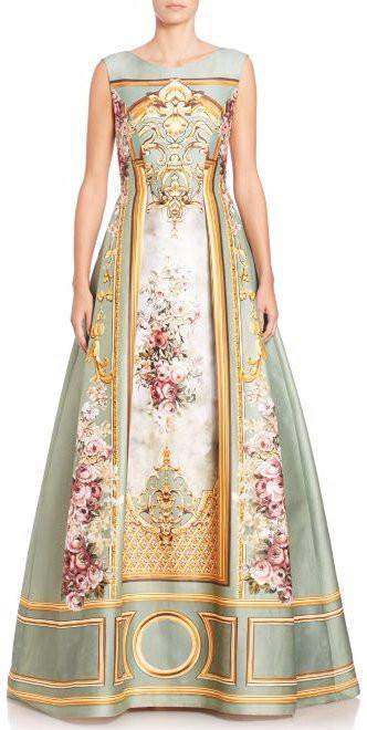 A-Line Embroidered Long Evening Dress - DESIGNER INSPIRED FASHIONS