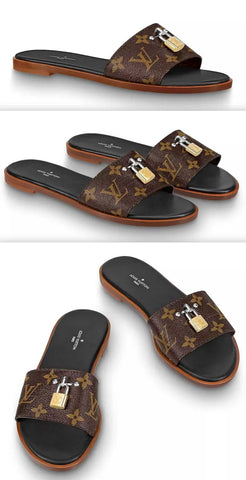Lock It Monogram Mules | DESIGNER INSPIRED FASHIONS