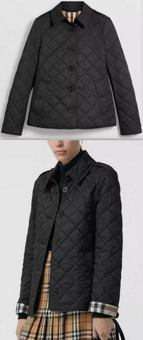 Diamond Quilted Jacket, Black