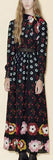 Black Flowers Border Dress - DESIGNER INSPIRED FASHIONS