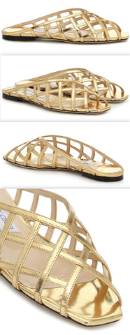 'Sai' Metallic leather Sandals