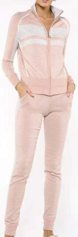 Frosted Tracksuit, Light Pink | DESIGNER INSPIRED FASHIONS