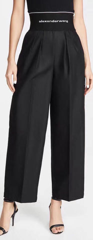 Trench Trousers with Logo Elastic Waistband | DESIGNER INSPIRED FASHIONS