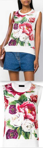 Peony Print Tank Top | DESIGNER INSPIRED FASHIONS