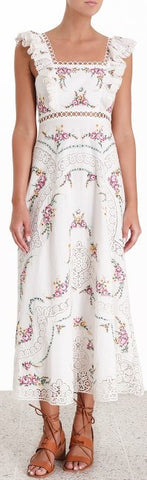 'Allia' Cross Stitch Long Dress
