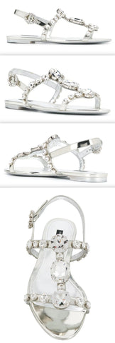 'Bianca' Jewel Crystal Embellished Sandals