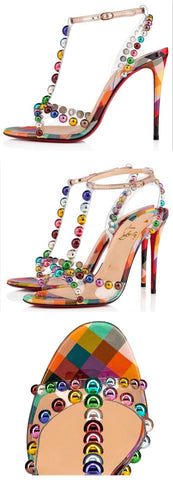 'Faridaravie' 100 mm Sandals, Multi-Colored