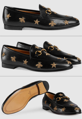 'Jordaan' Embroidered Leather Loafers