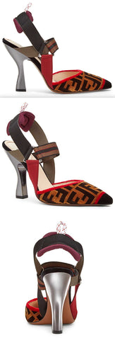 Multicolor Fabric Slingbacks | DESIGNER INSPIRED FASHIONS