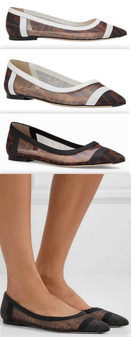 'Colibrì' Ballerina Flats - White or Black | DESIGNER INSPIRED FASHIONS